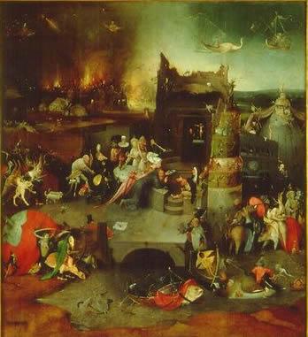 Hieronymus Bosch: Trittico delle tentazioni - Le tentazioni di Sant'Antonio