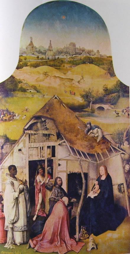 Hieronymus Bosch: Trittico dell'Epifania - L'adorazione dei magi