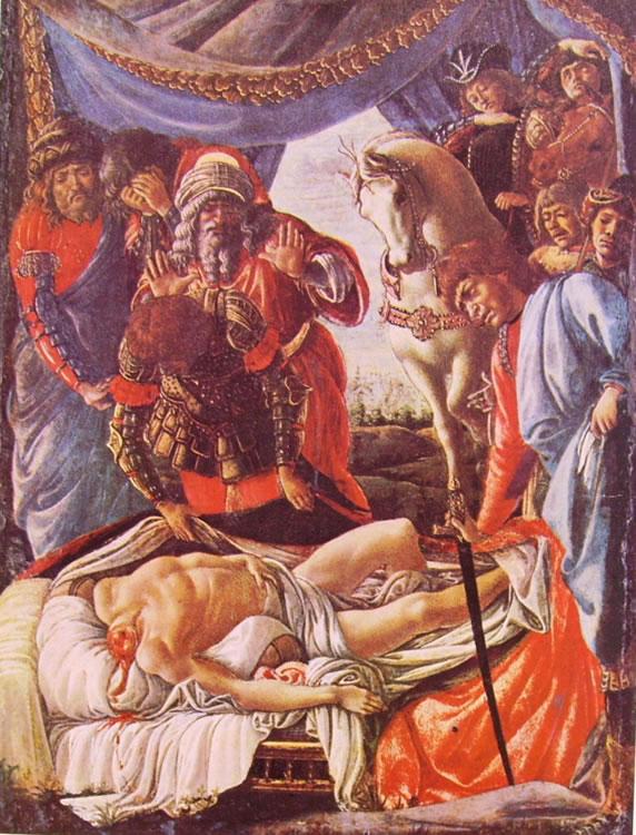 Il Botticelli: La scoperta del cadavere di Oloferne
