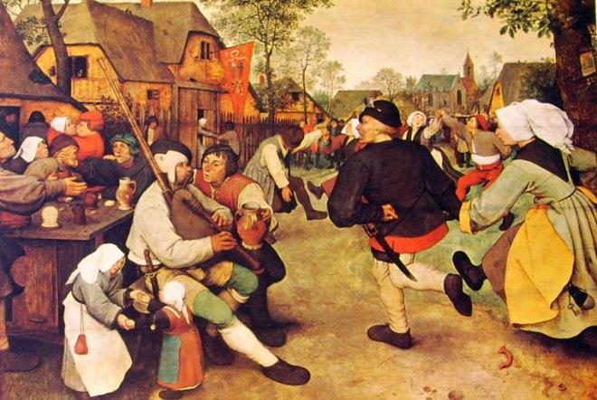 Pieter Bruegel: Danza di contadini