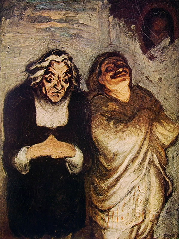 Honoré Daumier: Attori comici in scena