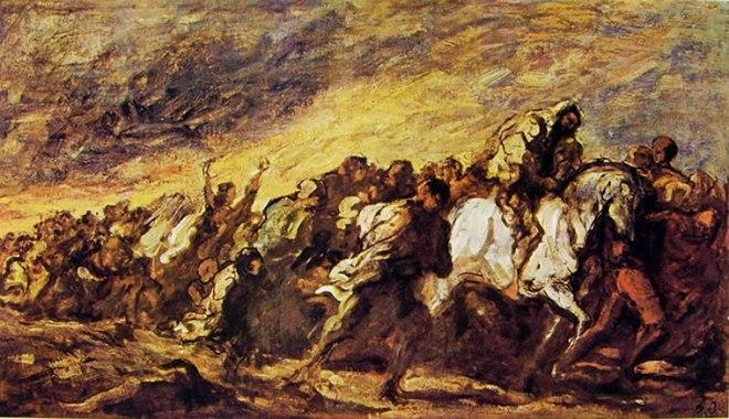 Honoré Daumier: Folla in marcia