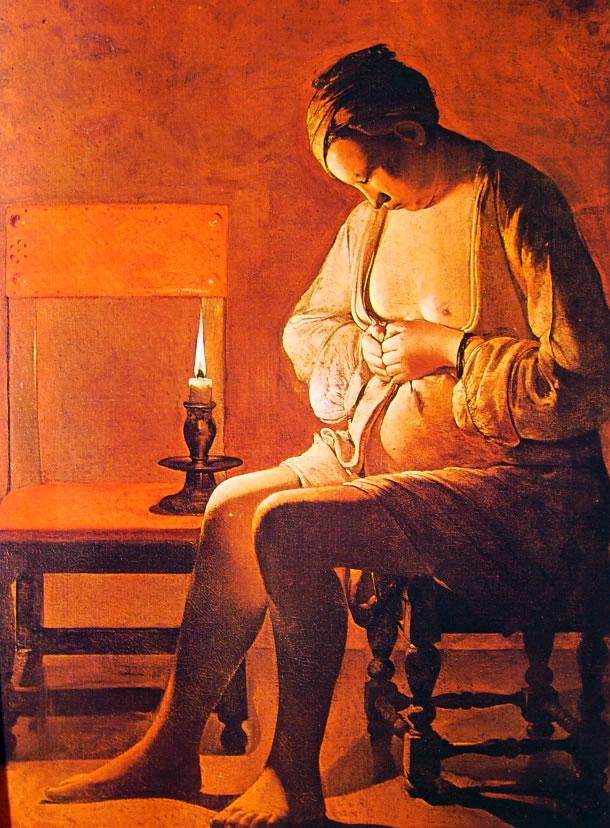 Georges de La Tour: Donna che si spulcia