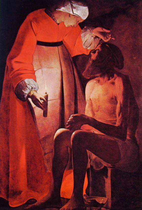 Georges de La Tour: Giobbe e la moglie