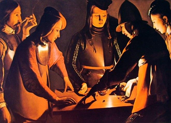 Georges de La Tour: Giocatori di dadi