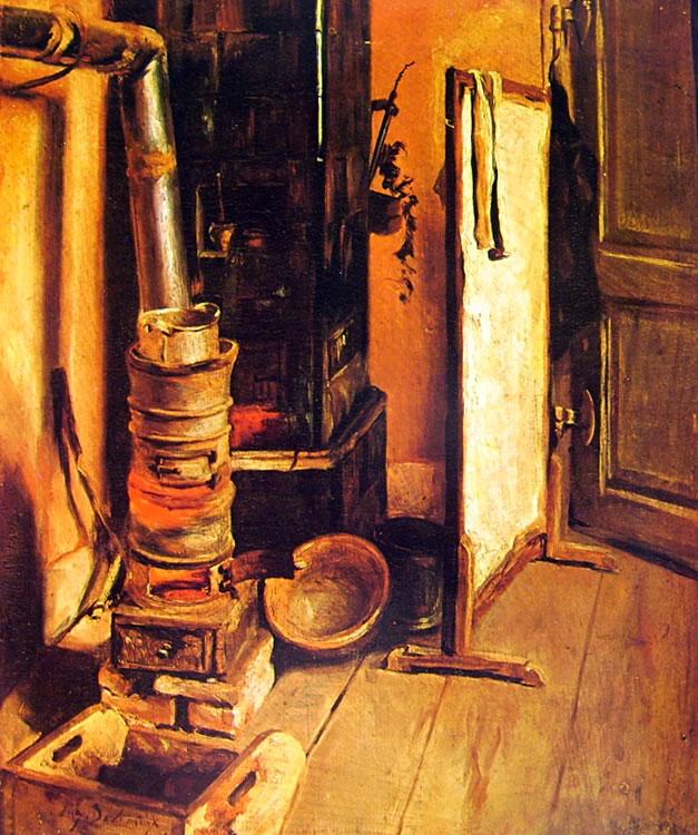 Eugène Delacroix - Angolo di studio: La stufa