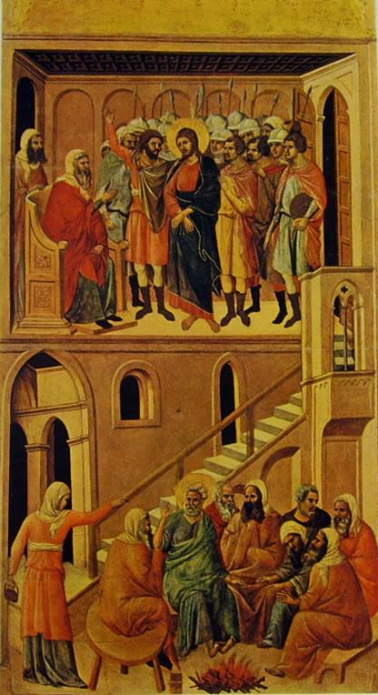 Registro principale (verso) - Cristo davanti ad Anna ed il Diniego di Pietro