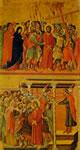 Duccio - L'andata al Calvario e Pilato si lava le mani