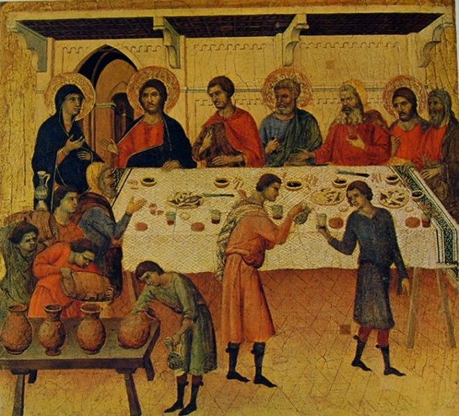 Duccio di Buoninsegna: Maestà Le nozze di Cana