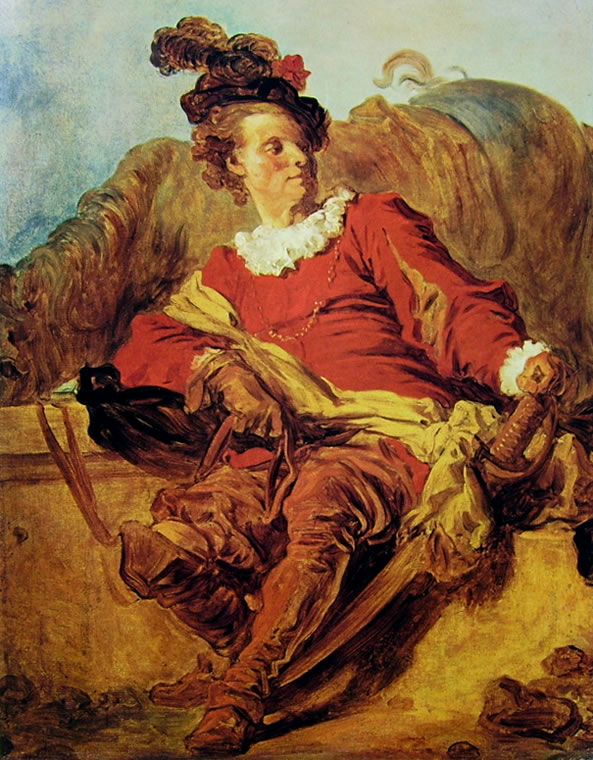 Jean-Honoré Fragonard: L'abate De Saint-Non in costume
