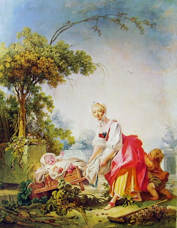 Jean-Honoré Fragonard: Donna con due bambini