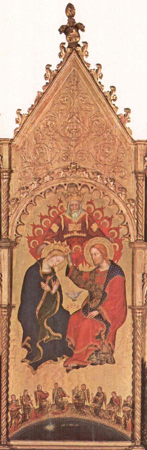 Gentile da Fabriano: Polittico di Valle Romita - Incoronazione della Vergine