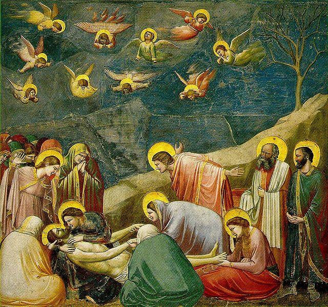 Giotto: Il compianto su Cristo morto