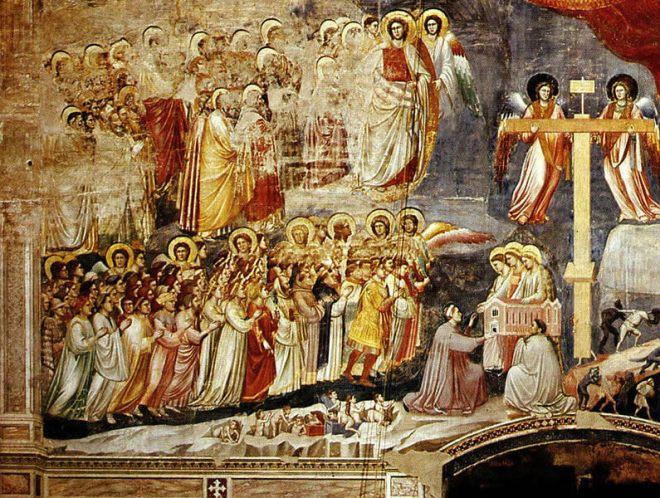 Giotto - Il giudizio universale part sinistra