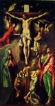 12 greco - cristo crocifisso con la madonna, la maddalena, san giovanni evangelista e angeli