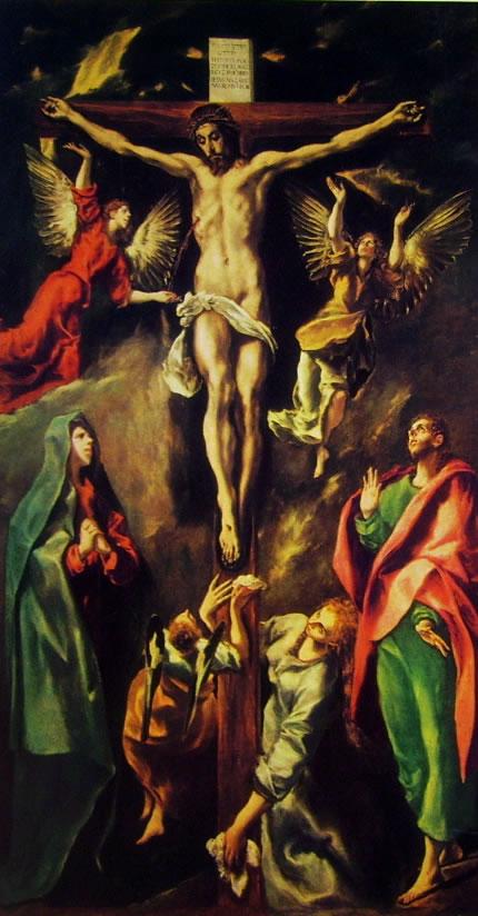 El Greco: Cristo crocifisso, con la Madonna