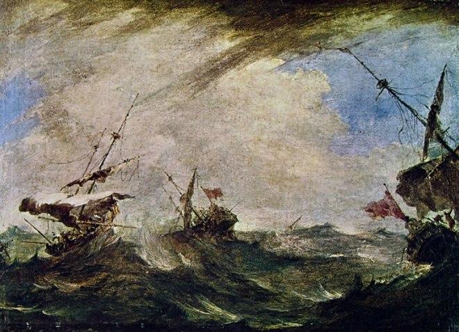 Francesco Guardi: Tempesta marina con naufragio