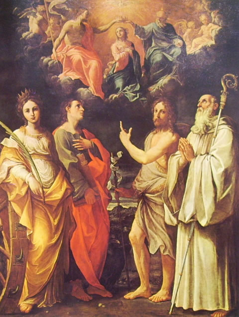 L'incoronazione della vergine e quattro santi