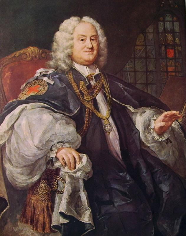 William Hogarth: Ritratto del vescovo Hoadly