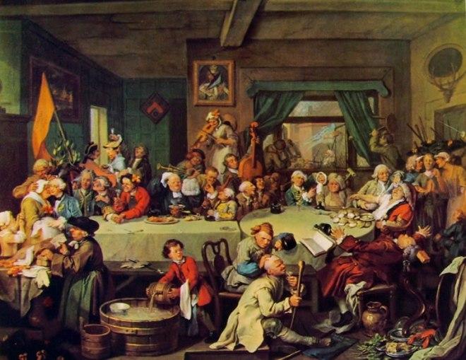 William Hogarth: La campagna elettorale - Il banchetto