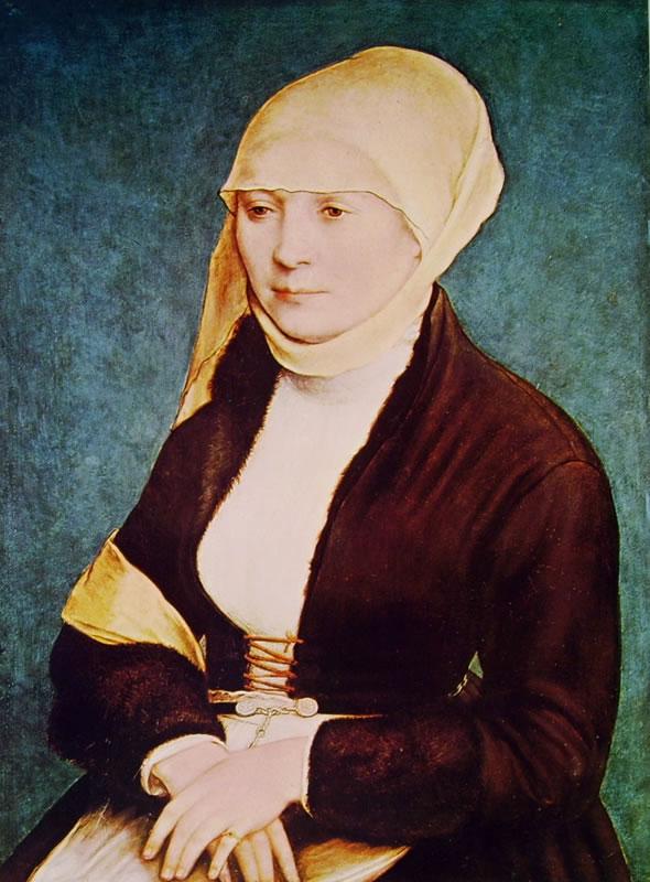 Hans Holbein il Giovane: Ritratto della moglie