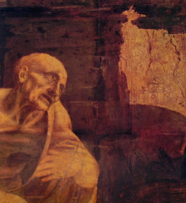 Leonardo da Vinci: S. Gerolamo (particolare)