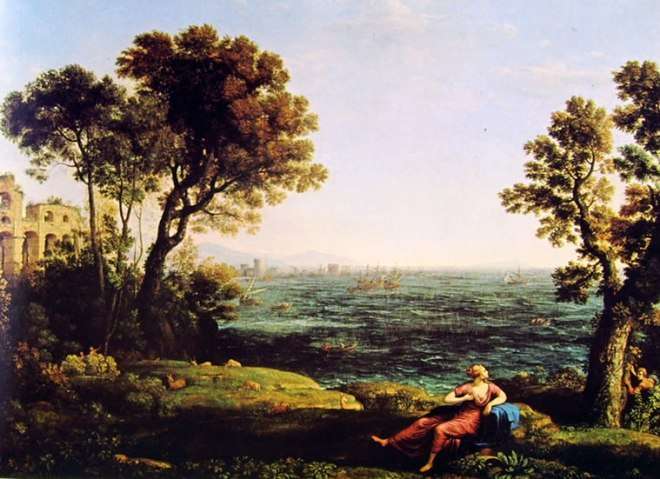 Lorrain (Claude Gellée): Marina con Bacco e Arianna