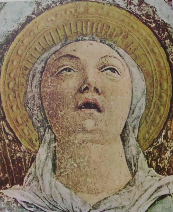 Affreschi della cappella Ovetari, particolare dell'Assunzione della Vergine