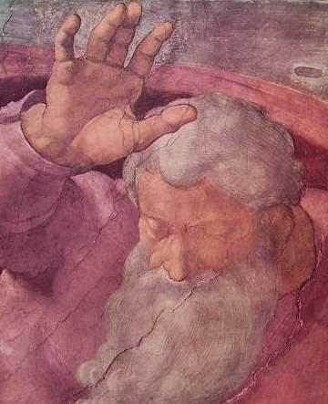 Michelangelo - Volta della Cappella Sistina, particolare della Separazione delle acque