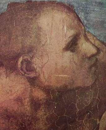 Michelangelo - Giudizio Universale, particolaredi un risorgente