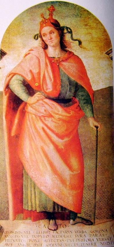 Il Perugino: Ornamentazione del Cambio Catone