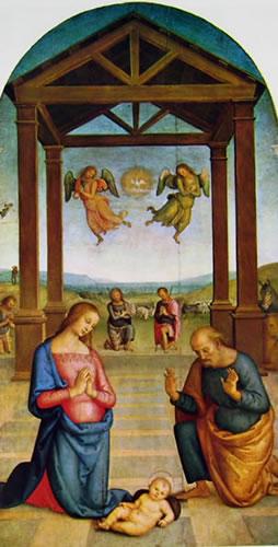 Il Perugino: Polittico di Sant'Agostino - Il presepio