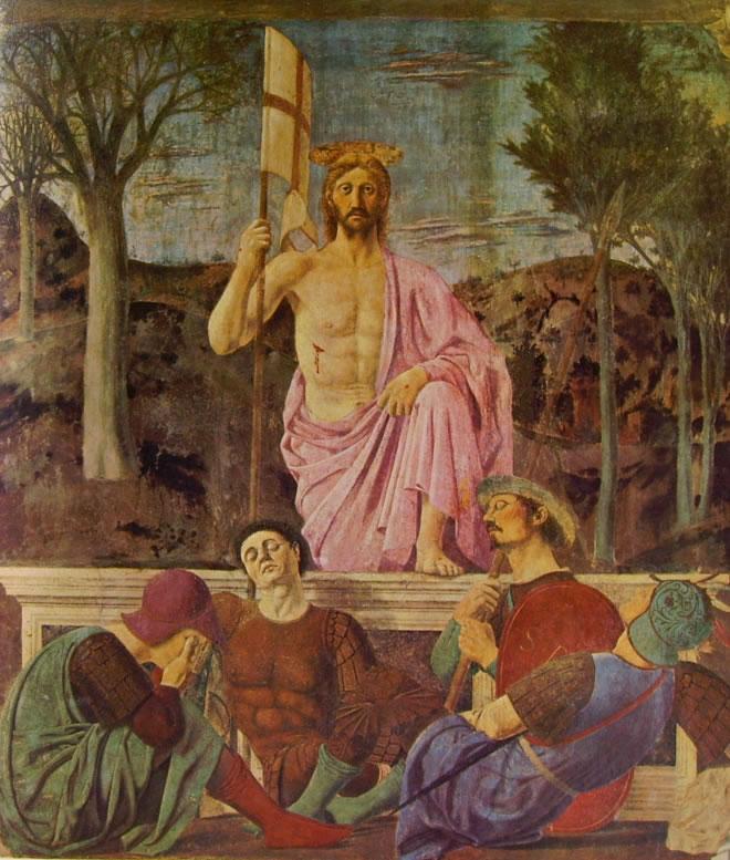 Piero della Francesca: La resurrezione di Cristo