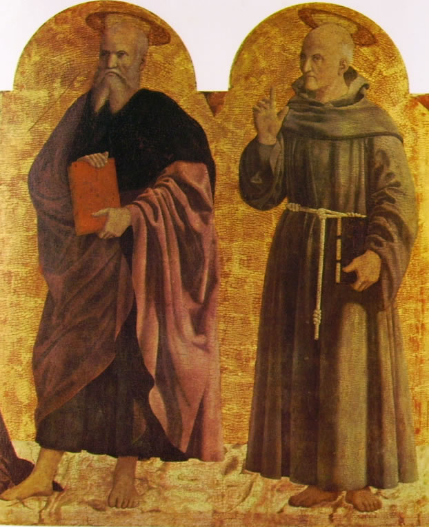 Piero della Francesca: Sant'Andrea e San Bernardino da Siena