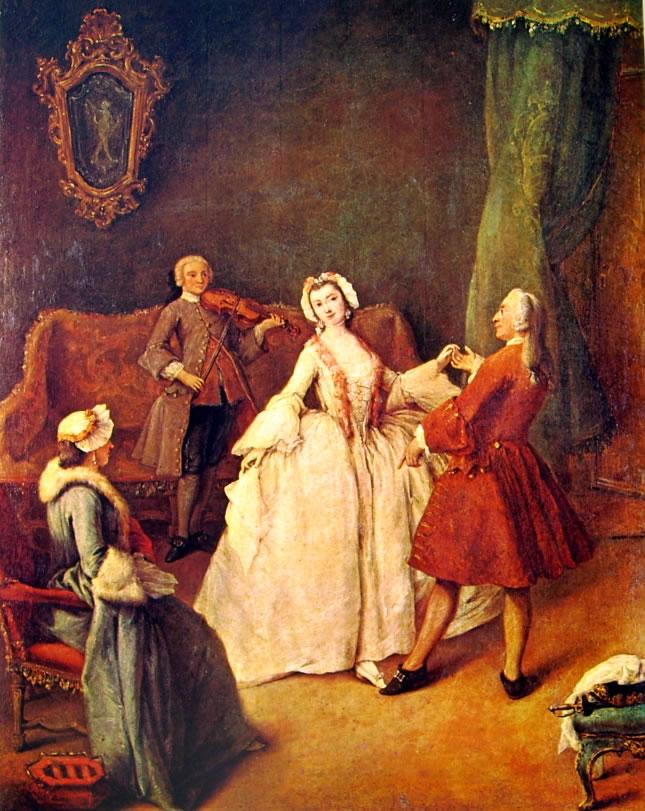 Pietro Longhi: La lezione di danza