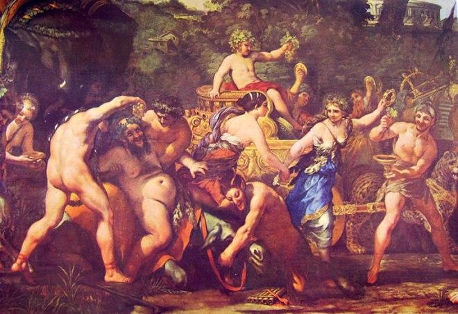 Pietro da Cortona: Particolare del Trionfo di Bacco