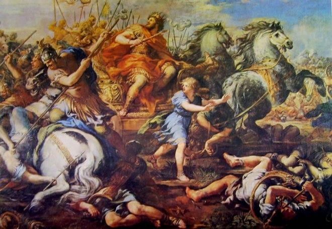 Pietro da Cortona: Particolare della Vittoria di Alessandro su Dario