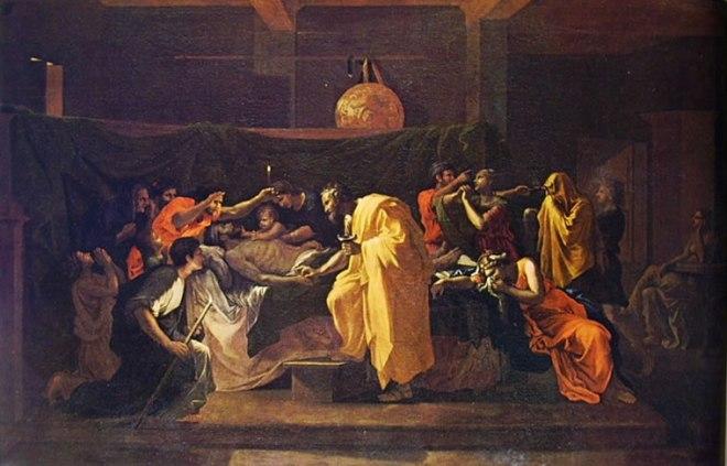 Nicolas Poussin: I sette sacramenti - L'estrema unzione