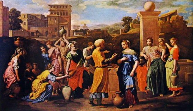 Nicolas Poussin: Rebecca al pozzo