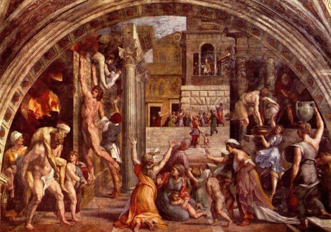 Raffaello Sanzio: Stanza dell'Incendio di Borgo: L'Incendio di Borgo