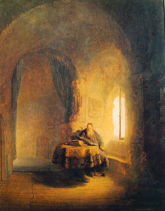 Rembrandt Harmenszoon Van Rijn: Studioso in lettura