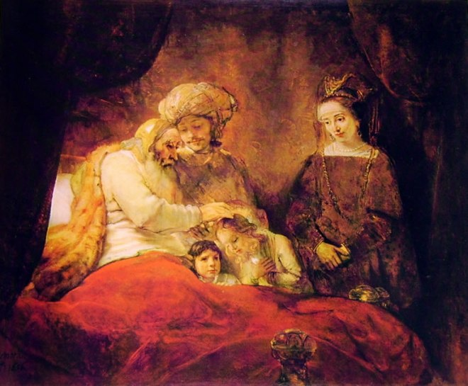 Rembrandt Harmenszoon Van Rijn: Giacobbe benedice i figli di Giuseppe