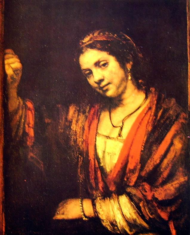 Rembrandt Harmenszoon Van Rijn: Ritratto di Hendrickje alla finestra