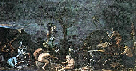 Streghe e incantesimi, cm. 72 x 132, Lord Spencer, Althorp House.