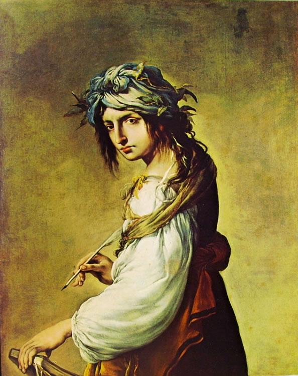 Salvator Rosa:Ritratto di Lucrezia come Sibilla