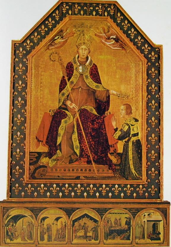 Simone Martini: San Lodovico di Tolosa che incorona Roberto d'Angiò