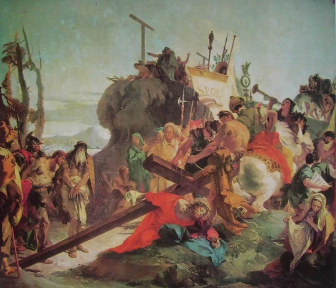 Il Tiepolo: Dipinti in Sant'Alvise Venezia - La salita al Calvario