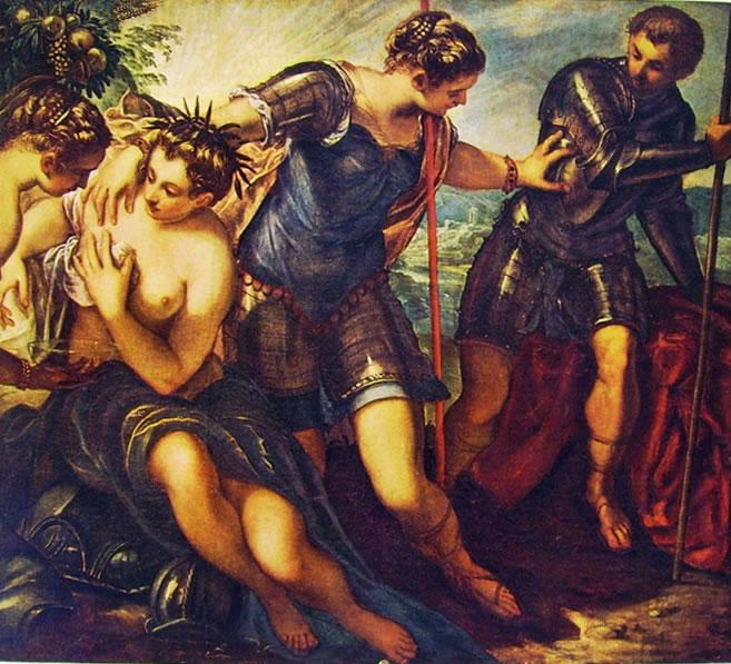 Il Tintoretto: Dipinti dell'anticollegio in palazzo Ducale
