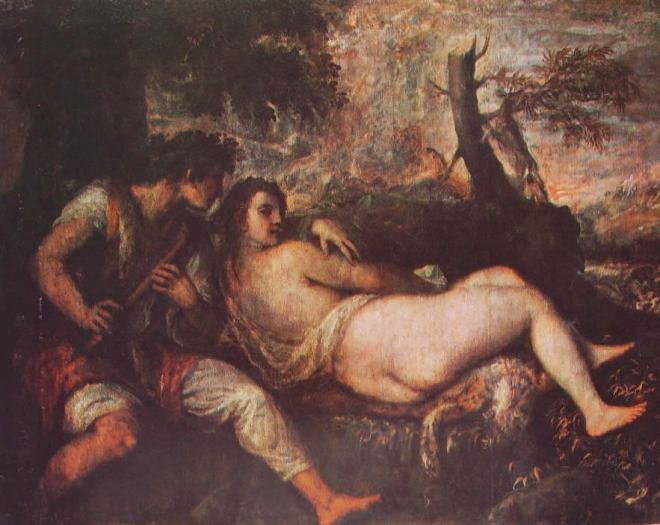 Tiziano: Ninfa e Pastore