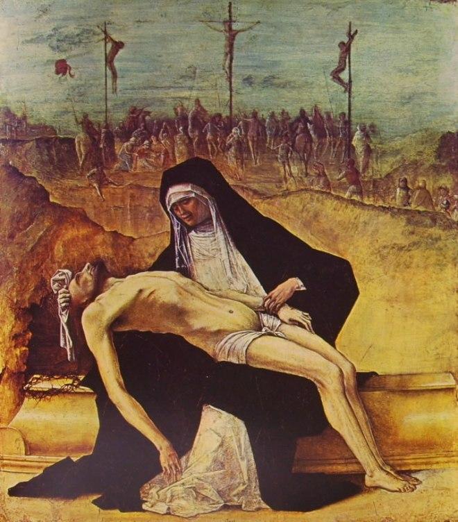 Ercole de Roberti: Predella con storie di Cristo - Pietà